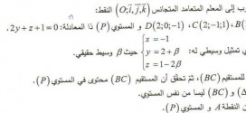 بكالوريا الرياضيات 2013