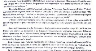 بكالوريا 2015 – اختبار اللغة الفرنسية شعبة لغات أجنبية