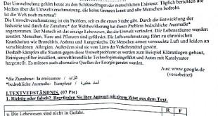 بكالوريا 2016 – اختبار اللغة الألمانية شعبة لغات أجنبية