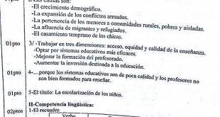 تصحيح بكالوريا 2016 – اختبار اللغة الإسبانية شعبة لغات أجنبية