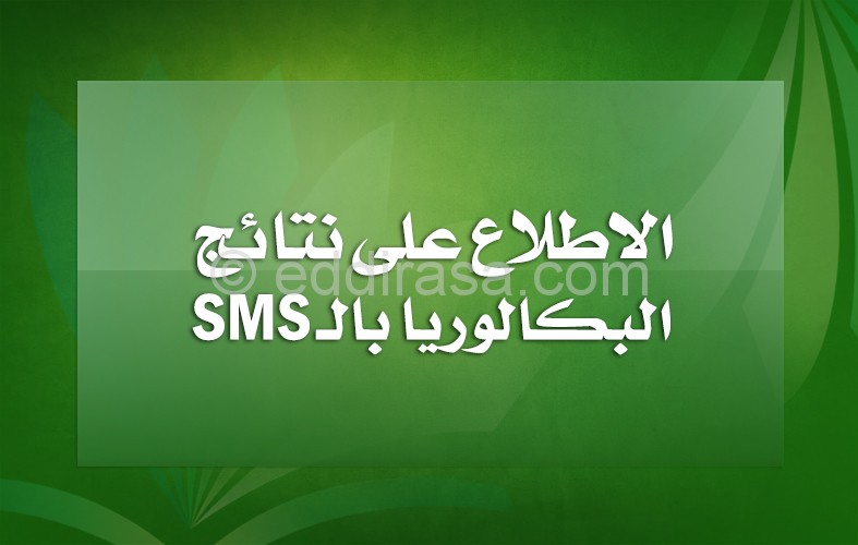 الاطلاع على نتائج بكالوريا بالرسائل القصيرة SMS