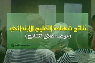تاريخ اعلان نتائج شهادة التعليم الابتدائي