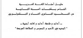 كتاب الأستاذ في اللغة العربية 2 ثانوي آداب